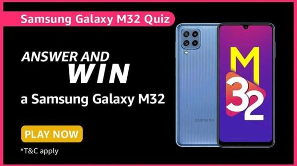 What is the industry-leading display technology on the Galaxy M32?